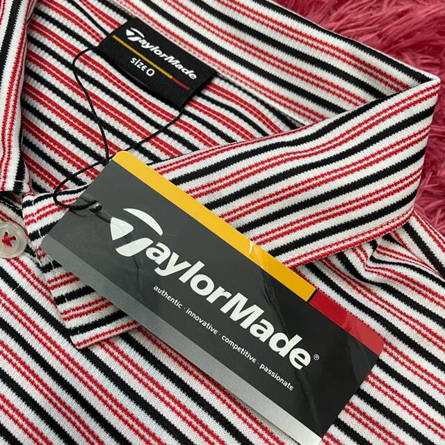 Paradiso(パラディーゾ)のテーラーメイド 新品 ボーダーポロシャツ  サイズ0 スポーツ/アウトドアのゴルフ(ウエア)の商品写真