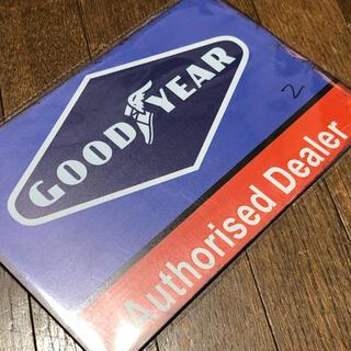 グッドイヤー(Goodyear)のGOODYEAR Authorised Dealer ブリキ看板(その他)
