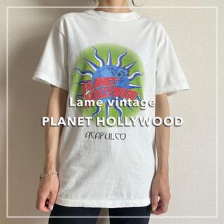 サンタモニカ(Santa Monica)の90s 古着 プラネットハリウッド プリントTシャツ アカプルコ ビンテージ(Tシャツ/カットソー(半袖/袖なし))