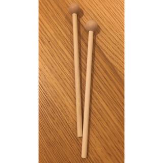 新品未使用☆木琴 バチ 木製(木琴)