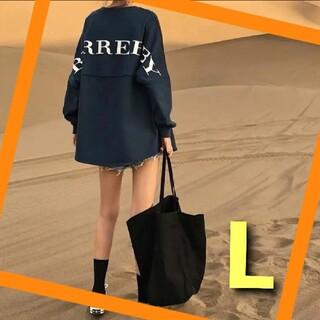 大人気 ビッグトレーナー ロンT 韓国ファッション オルチャン ストリート 長袖(トレーナー/スウェット)