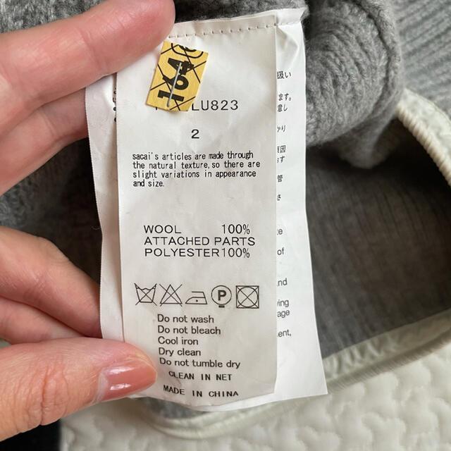 sacai luck(サカイラック)のサカイラック sacailuck ニット ペプラムニット ケーブル編み Aライン レディースのトップス(ニット/セーター)の商品写真