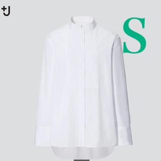 ユニクロ(UNIQLO)のユニクロ ジルサンダー +j スーピマコットンタックシャツ ホワイト(シャツ/ブラウス(長袖/七分))