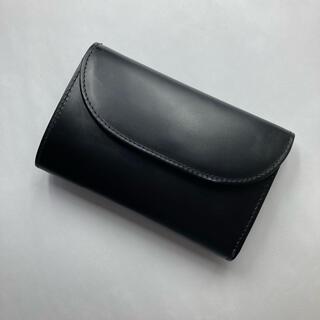ホワイトハウスコックス(WHITEHOUSE COX)のホワイトハウスコックス 三つ折り財布 ブラック ブライドルレザー(折り財布)