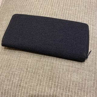 ムジルシリョウヒン(MUJI (無印良品))の【美品】無印 ウォレット ネイビー(財布)