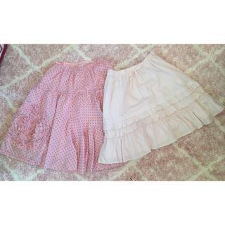 エミリーテンプルキュート(Emily Temple cute)のエミキュ♡ピンクスカート二枚セット(ひざ丈スカート)