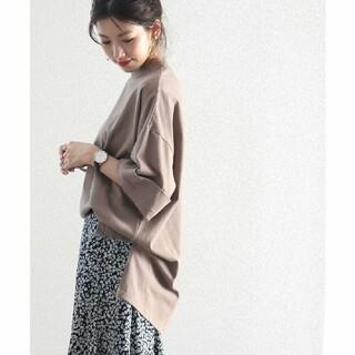 【新品】クラシカルエルフ 5分袖ビッグシルエットTシャツ カットソー  XL(カットソー(半袖/袖なし))