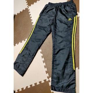 アディダス(adidas)の☆adidas アディダス ウインドブレーカーナイロンパンツ 黒&金 サイズL(トレーニング用品)