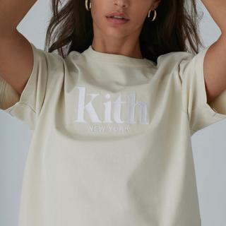 シュプリーム(Supreme)のKITH キス ロゴ刺繍 Tシャツ トップス クリーム色(Tシャツ(半袖/袖なし))