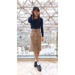 アストリアオディール(ASTORIA ODIER)の【新品】アストリア スカート フロントボタン(ひざ丈スカート)