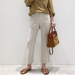 アパルトモンドゥーズィエムクラス(L'Appartement DEUXIEME CLASSE)のアパルトモン linen croppedリネン パンツ(クロップドパンツ)