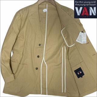 ヴァンヂャケット(VAN Jacket)のJ4030新品 VAN JAC リネン サマー テーラードジャケット イエローL(テーラードジャケット)