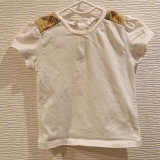 バーバリー(BURBERRY)の【18M86cm】バーバリー 半袖Tシャツ 白 パフスリーブ(シャツ/カットソー)