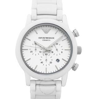 エンポリオアルマーニ(Emporio Armani)のアルマーニ ホワイト 腕時計(腕時計(アナログ))