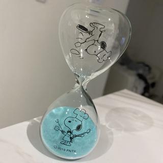 スヌーピー(SNOOPY)のレアなスヌーピー砂時計★キッチン柄の水色ブルー★箱無しですが、使用してません!!(その他)