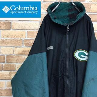 Columbia - 【コロンビア】90s ナイロンジャケット PACKERS リバーシブル 緑