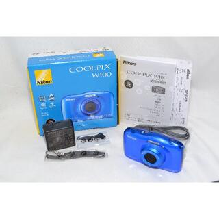Nikon - ★新品級★ NIKON COOLPIX W100 ブルー