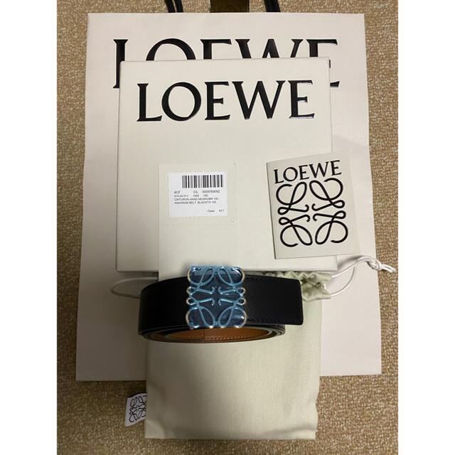 LOEWE(ロエベ)の週末最終セール!お早めに!LOEWEアナグラムリバーシブルベルト メンズのファッション小物(ベルト)の商品写真