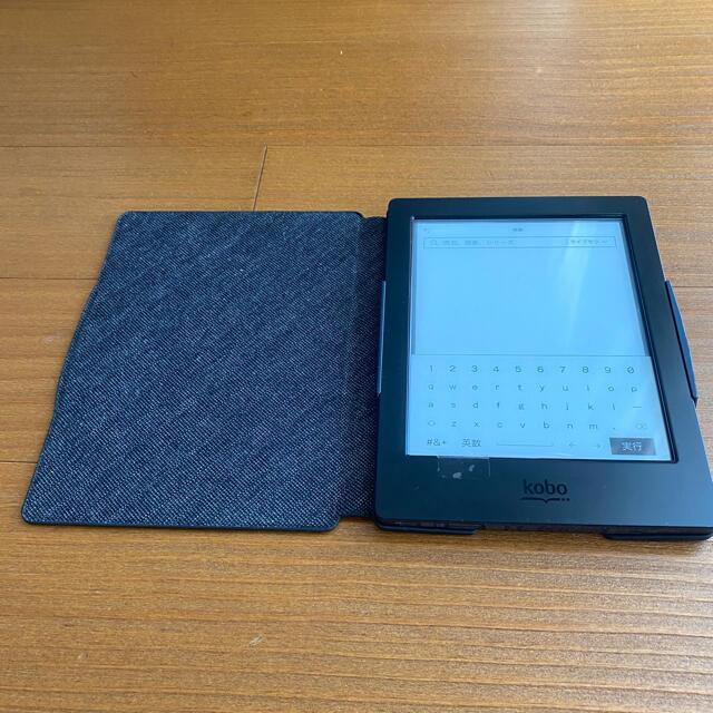 電子書籍リーダー Kobo Aura H2O スリープカバーセット(ブラック) スマホ/家電/カメラのPC/タブレット(電子ブックリーダー)の商品写真