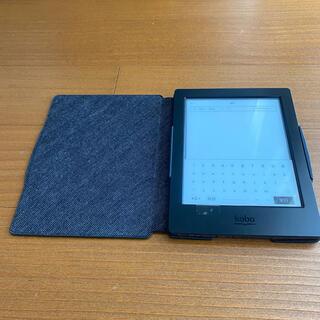 電子書籍リーダー Kobo Aura H2O スリープカバーセット(ブラック)