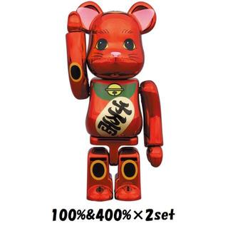 【新品】BE@RBRICK 招き猫 梅金メッキ 100%/400% 2セット(その他)