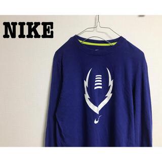 NIKE - 古着 NIKE ナイキ ブルー カットソー ロンT Tシャツ ユニセックス