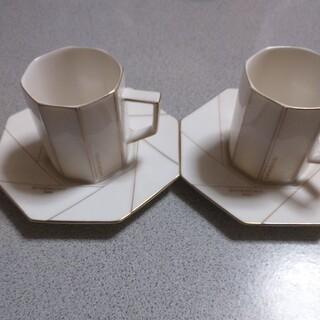 ジバンシィ(GIVENCHY)のジバンシー カップソーサー ペア(グラス/カップ)