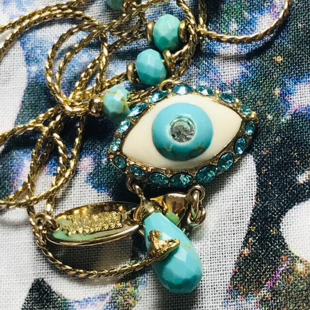 Vivienne Westwood(ヴィヴィアンウエストウッド)のヴィヴィアン アイドロップ ターコイズ ネックレス レディースのアクセサリー(ネックレス)の商品写真