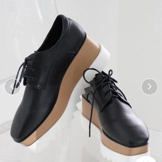 ステラマッカートニー(Stella McCartney)の chuclla 厚底 スクエアトゥ シューズ 37(ローファー/革靴)