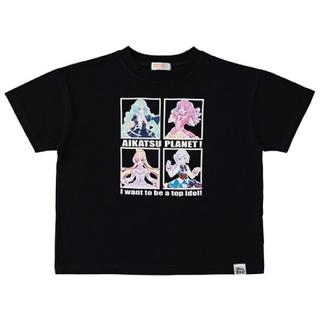 アイカツ(アイカツ!)のアイカツプラネット Tシャツ 140 スイング付き(Tシャツ/カットソー)