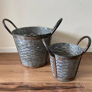 ロンハーマン(Ron Herman)の新品 青山SOLSO PARK購入 ブリキ鉢カバー大小セット 観葉植物(プランター)