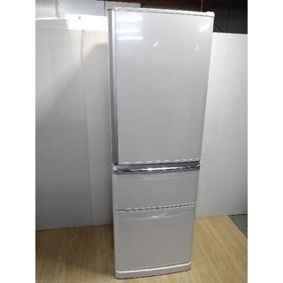 ミツビシ(三菱)の冷蔵庫 ホワイト ラウンドカットデザイン シンプルライフ 大容量 (冷蔵庫)