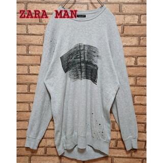 ZARA - ZARA MAN ザラ メンズ ロング丈 スウェット