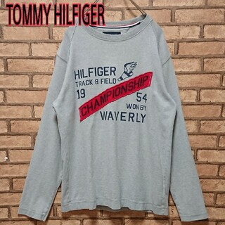 トミーヒルフィガー(TOMMY HILFIGER)のTOMMY HILFIGER フロント プリント  メンズ グレー スウェット(スウェット)