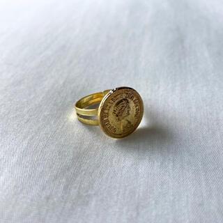 アメリヴィンテージ(Ameri VINTAGE)の୨୧ Vintage rétro gold coin ring(リング)