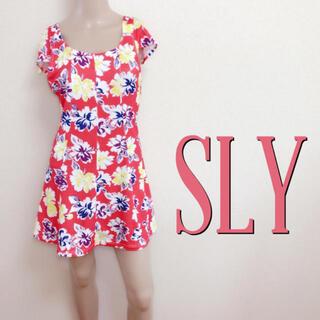 スライ(SLY)の極美くびれ♪スライ バックシャン リゾートワンピース♡ザラ マウジー(ミニワンピース)