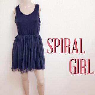 スパイラルガール(SPIRAL GIRL)のいつでも♪スパイラルガール チュールプリーツワンピース♡マウジー スナイデル(ミニワンピース)