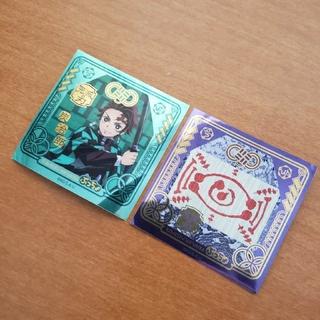 ユーハミカクトウ(UHA味覚糖)の鬼滅の刃 ぷっちょ シール 2枚セット 未使用(キャラクターグッズ)