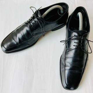 PRADA - PRADA プラダ 革靴 Uチップ 黒 25.5cm 除菌・消臭済み
