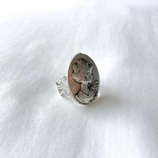 グリモワール(Grimoire)の୨୧ Vintage rétro silver camel lace ring(リング)