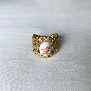 ロキエ(Lochie)の୨୧ Vintage rétro Flower Pottery Ring(リング)