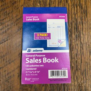 アメリカ現行品 sales book 売上台帳 売上表 紙物 (店舗用品)