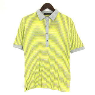リチウムオム(LITHIUM HOMME)のリチウム オム LITHIUM HOMME ポロシャツ 半袖 ボーダー 46(ポロシャツ)