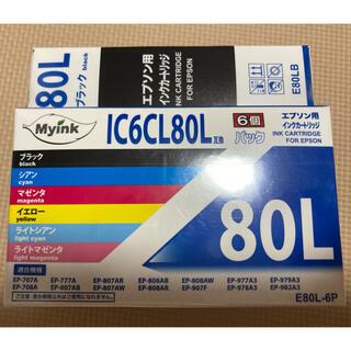 EPSON - 【新品】EPSON インクカートリッジ プリンター IC6CL80L 互換品