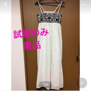 テチチ(Techichi)の綿ローン刺繍マキシ丈ワンピ テチチ(ロングワンピース/マキシワンピース)