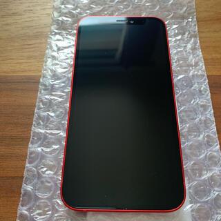 アイフォーン(iPhone)の【美品】iPhone12 mini 64GB レッド SIMロック解除済み(スマートフォン本体)