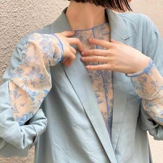 カスタネ(Kastane)のシアー花柄キャミ付きインナー(Tシャツ(長袖/七分))