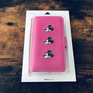 フランフラン(Francfranc)のFrancfranc×Disney 手帳型ケース iPhoneX/Xs ピンク(iPhoneケース)