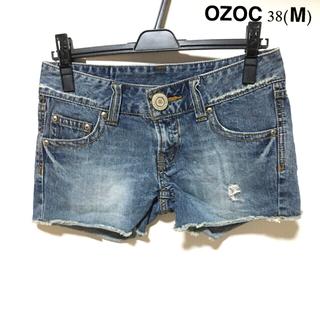 OZOC クラッシュ ダメージ加工 ショートパンツ 38