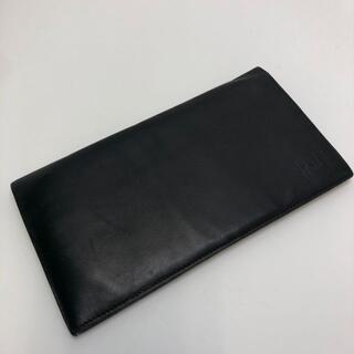 ダンヒル(Dunhill)のダンヒル 二つ折り長財布 カーフレザー ブラック(長財布)